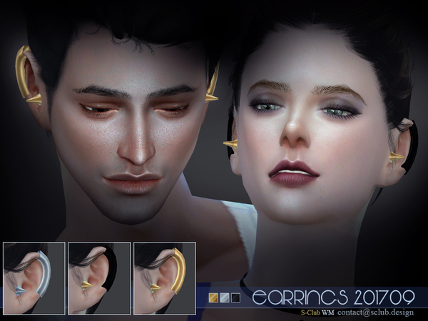 EARRINGS F 201709 by S Club WM at TSR image 1743 Sims 4 Updates
