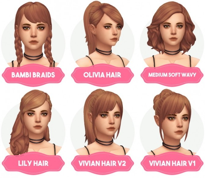 Clay Hair Recolors Updated at Aveira Sims 4 image 1747 670x583 Sims 4 Updates