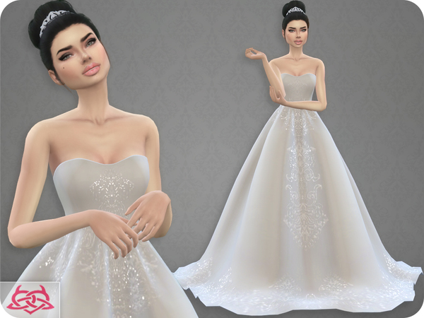 wedding dress 7colores urbanos at tsr » sims 4 updates