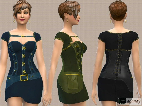 Sims 4 Steampunk Dress V1 by dgandy at TSR