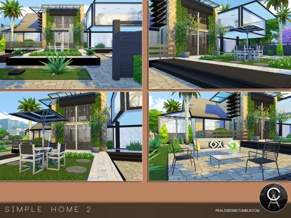 Sims 4 Simple Home 2 by Pralinesims at TSR