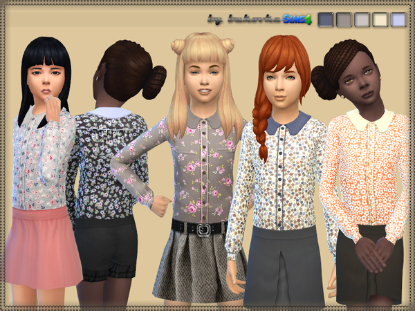 Sims 4 Blouse for Girls by bukovka at TSR