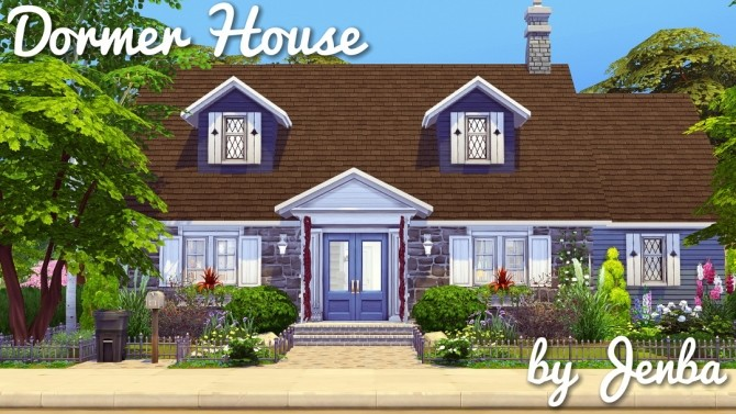 Dormer House at Jenba Sims image 1864 670x377 Sims 4 Updates