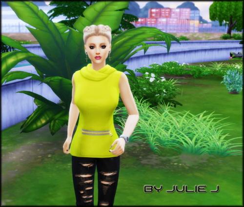 SP11 Fitness Female Hoodie Edited at Julietoon – Julie J image 1868 Sims 4 Updates