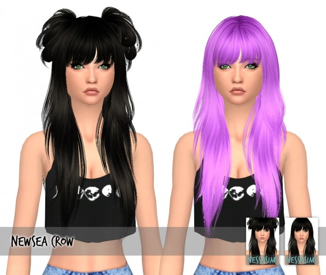 Newsea Crow hair recolors at Nessa Sims image 1871 670x565 Sims 4 Updates
