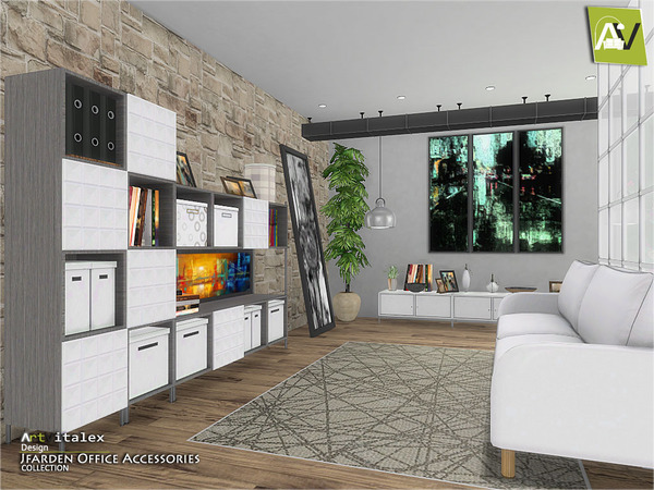 Jfarden Office Accessories by ArtVitalex at TSR image 1872 Sims 4 Updates