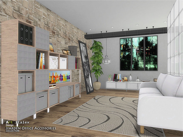 Jfarden Office Accessories by ArtVitalex at TSR image 1892 Sims 4 Updates