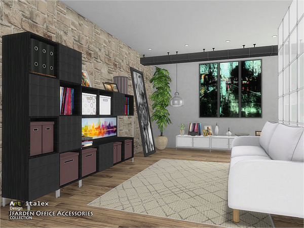 Jfarden Office Accessories by ArtVitalex at TSR image 1902 Sims 4 Updates