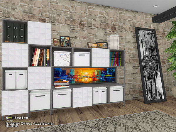 Jfarden Office Accessories by ArtVitalex at TSR image 1915 Sims 4 Updates