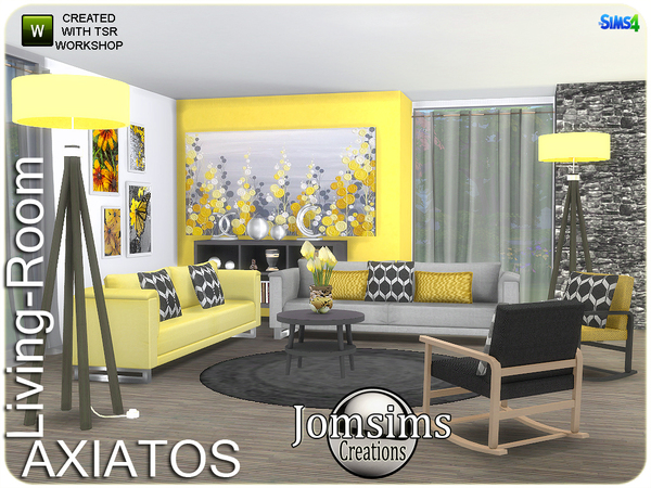 Axiatos living room by jomsims at TSR image 1929 Sims 4 Updates