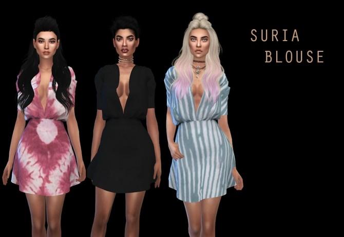 Sims 4 Suria Blouse at Leo Sims