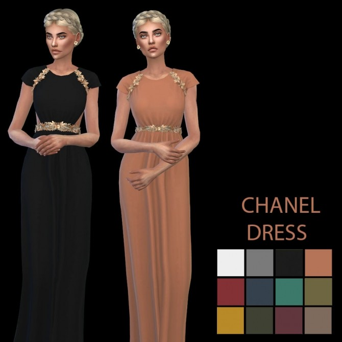 Sims 4 Lily Dress at Leo Sims