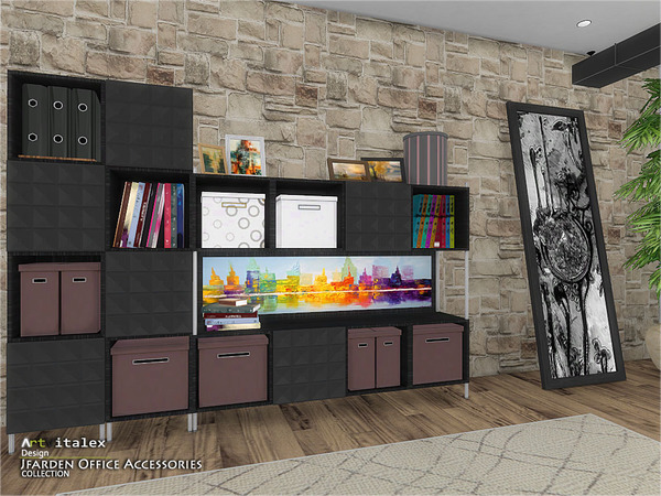 Jfarden Office Accessories by ArtVitalex at TSR image 1942 Sims 4 Updates