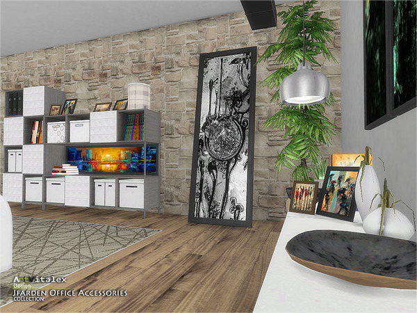 Jfarden Office Accessories by ArtVitalex at TSR image 1952 Sims 4 Updates