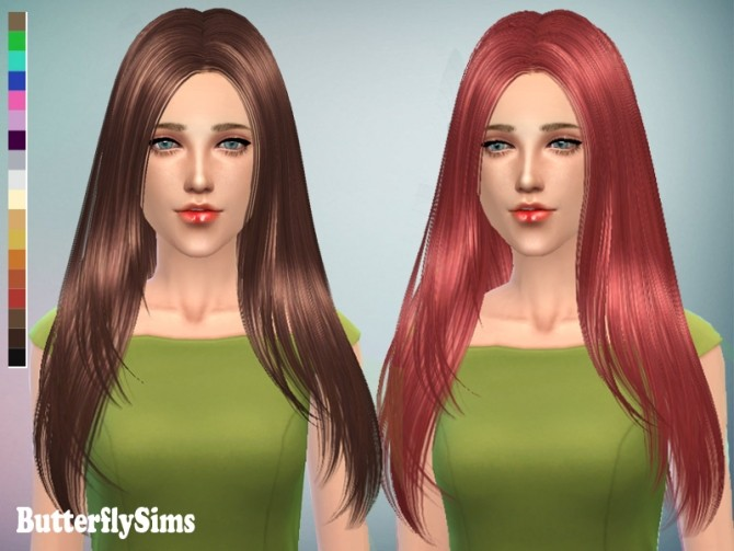 Hair 122 by YOYO (free) at Butterfly Sims image 1973 670x503 Sims 4 Updates