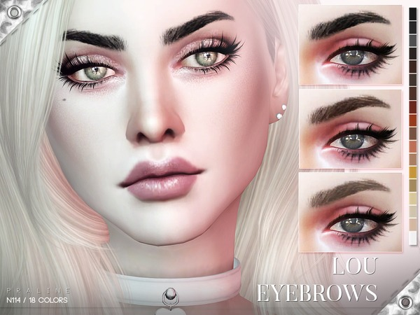 Lou Eyebrows N114 by Pralinesims at TSR image 2014 Sims 4 Updates