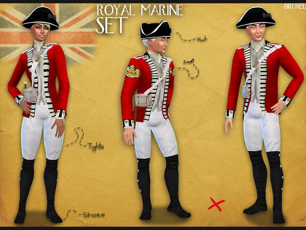 Sims 4 Royal Marine Set by Bruxel at TSR