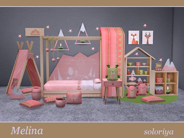 Melina toddler bedrooms by soloriya at TSR image 2025 Sims 4 Updates