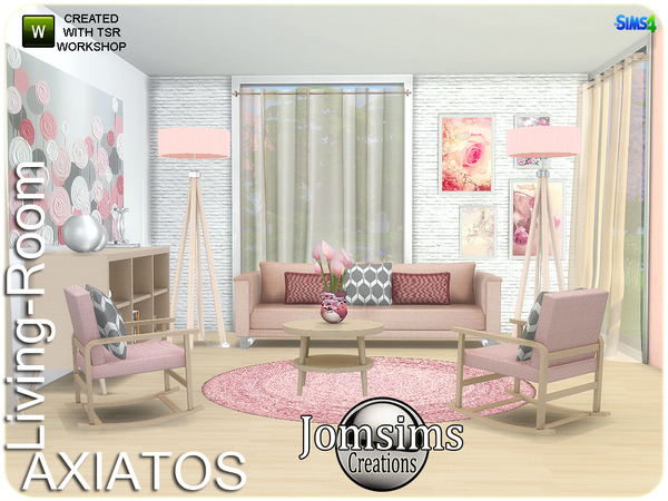 Axiatos living room by jomsims at TSR image 2028 Sims 4 Updates