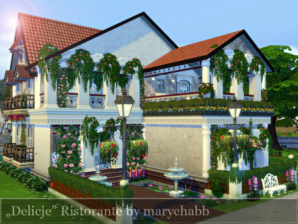 Delicje Ristorante by marychabb at TSR image 2042 Sims 4 Updates