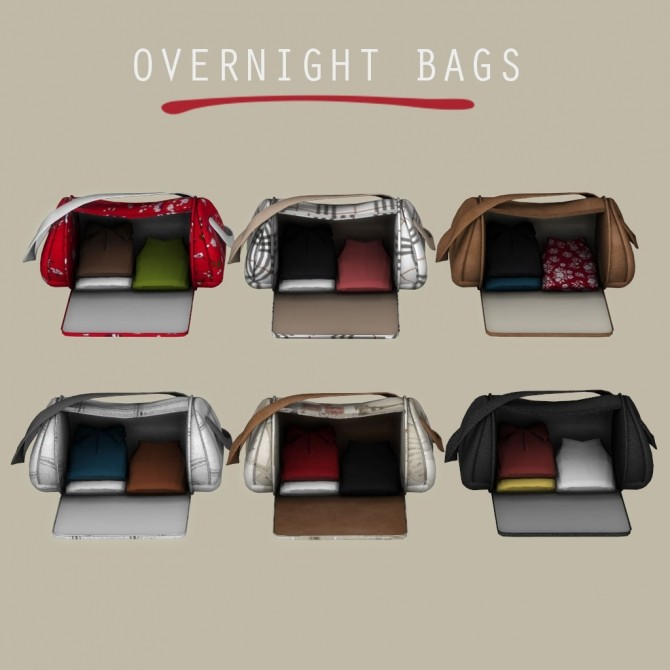 Sims 4 Overnight Bags at Leo Sims