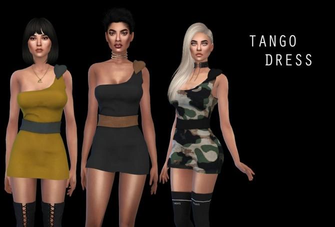 Sims 4 Tango Dress at Leo Sims