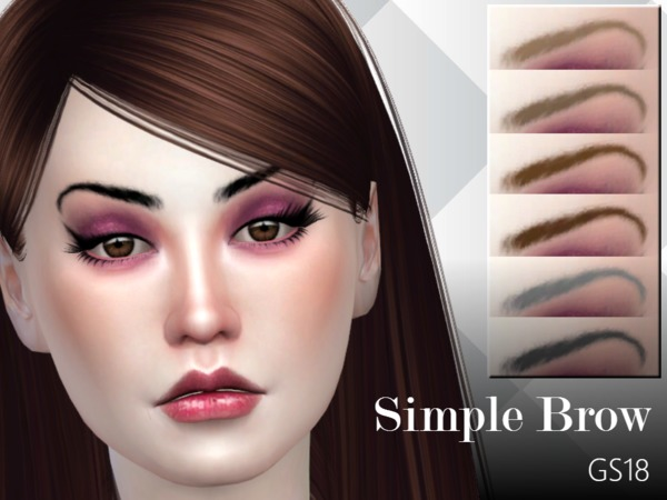 Sims 4 Simple Brow GS18 by GlitterSmirks at TSR