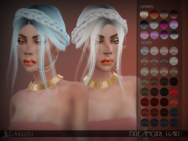 Dreamgirl Hair by LeahLillith at TSR image 2100 Sims 4 Updates