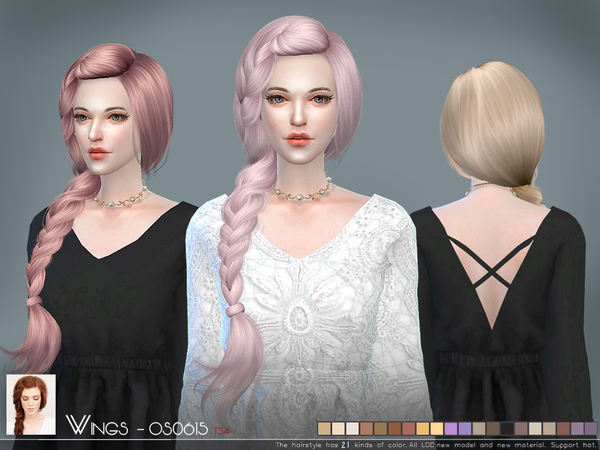 OS0615 hair by Wings Sims at TSR image 2105 Sims 4 Updates