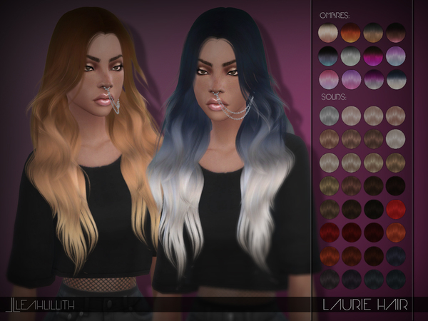 Sims 4 Laurie Hair by Leah Lillith at TSR