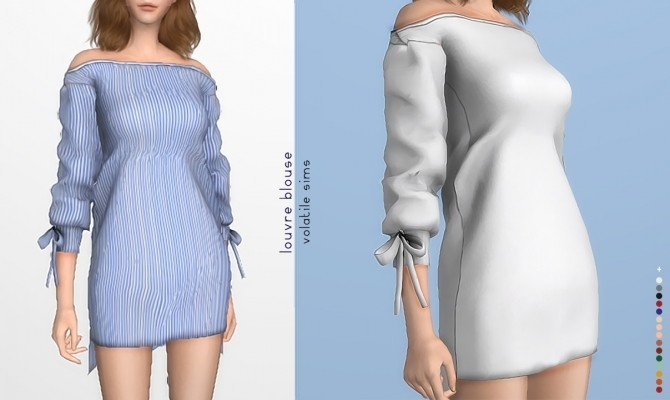 Louvre Blouse at Volatile Sims image 21111 670x400 Sims 4 Updates