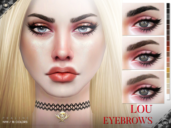 Lou Eyebrows N114 by Pralinesims at TSR image 2114 Sims 4 Updates