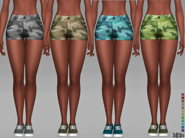 Camouflage Shorts F by Margeh 75 at TSR image 2117 Sims 4 Updates
