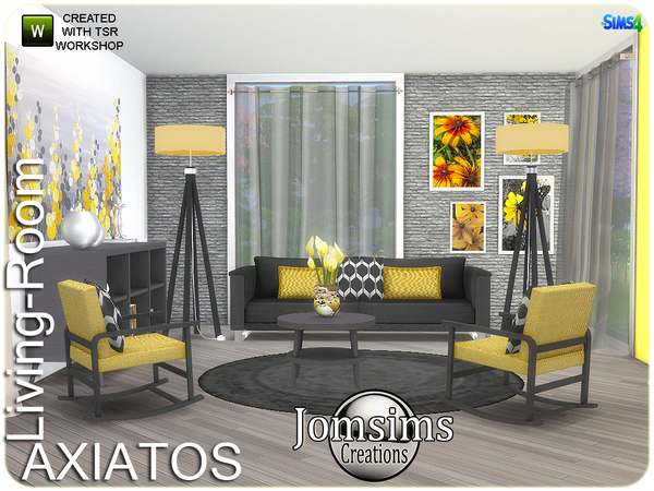 Axiatos living room by jomsims at TSR image 2137 Sims 4 Updates