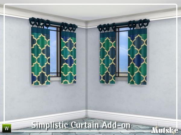Sims 4 Simplistic Curtain Add on by mutske at TSR