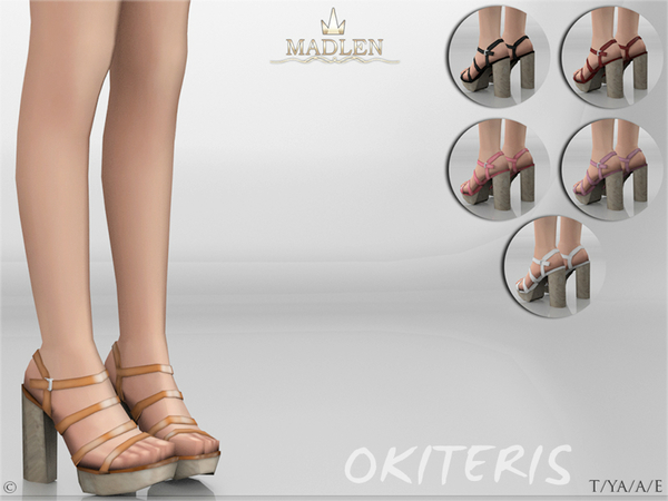 Sims 4 Madlen Okiteris Shoes by MJ95 at TSR