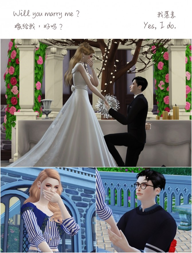 Wedding Project Re Edit Poses Sets At Flower Chamber 187 Sims 4 Updates