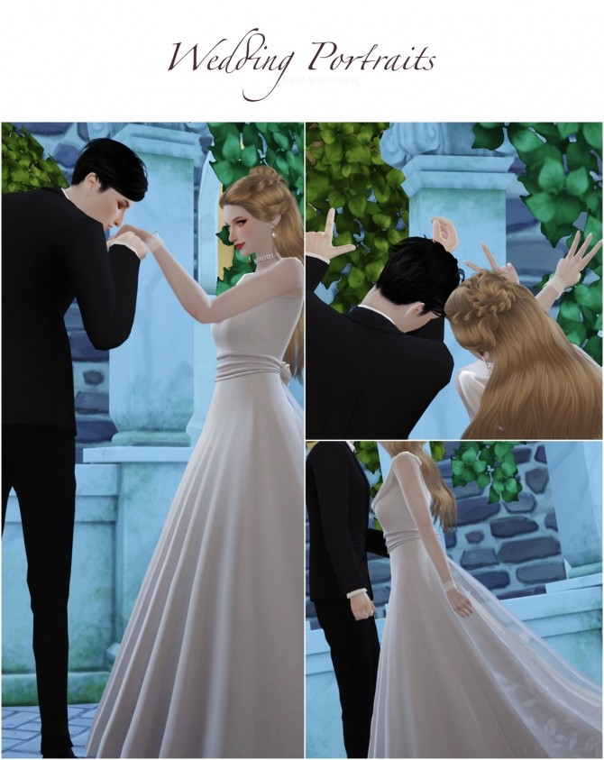 Wedding Project Re edit Poses Sets at Flower Chamber image 2181 670x843 Sims 4 Updates