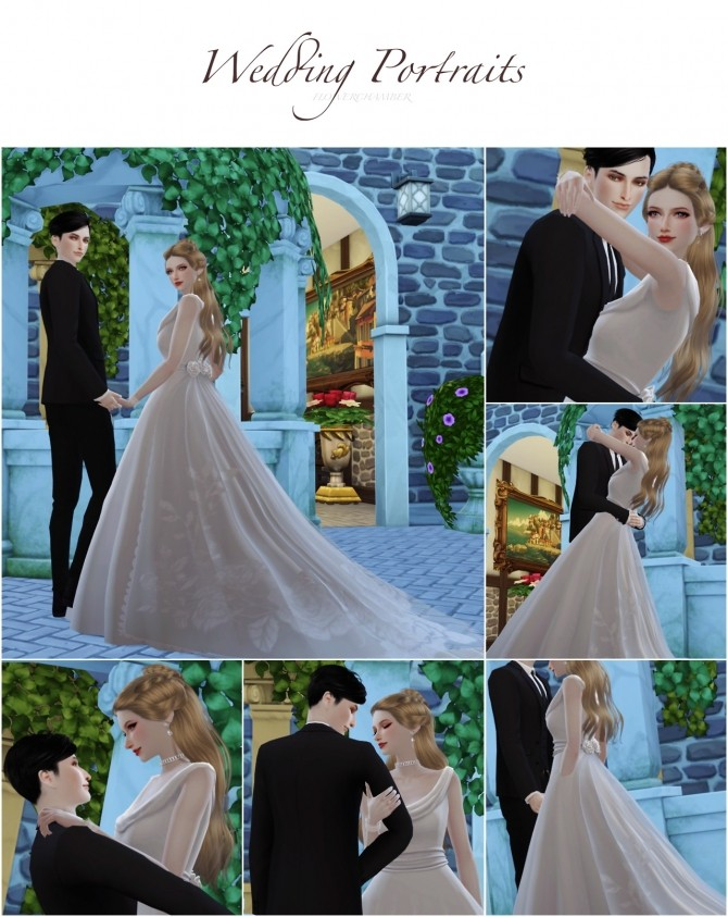 Wedding Project Re edit Poses Sets at Flower Chamber image 2191 670x843 Sims 4 Updates