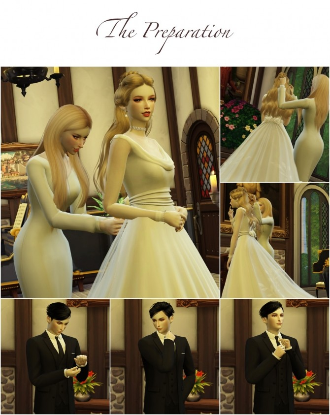 Wedding Project Re edit Poses Sets at Flower Chamber image 2201 670x843 Sims 4 Updates