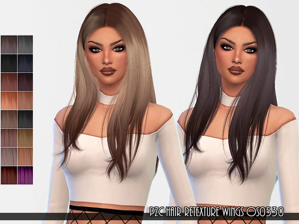 Hair Retexture WINGS OS0530 by Pinkzombiecupcakes at TSR image 2217 Sims 4 Updates