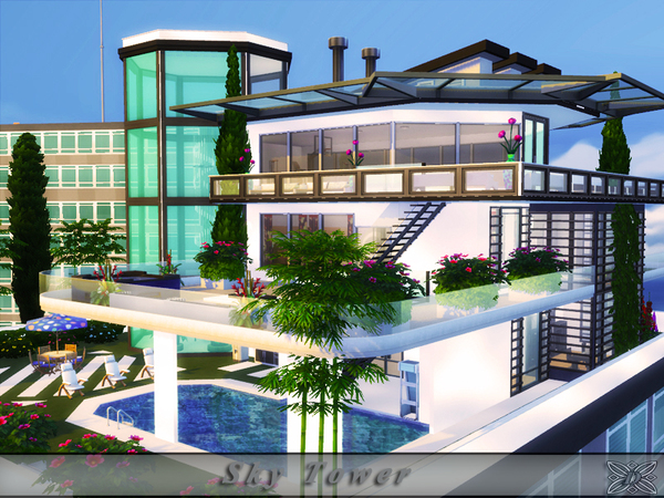 Sky Tower apartment by Danuta720 at TSR image 2219 Sims 4 Updates
