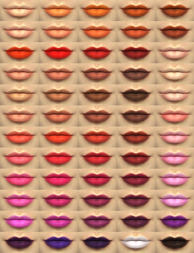 True Pigments Lip Colors by Kitty25939 at Mod The Sims image  Sims 4 Updates