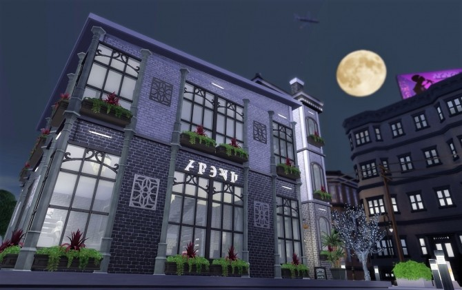 Sims 4 Dusks Void restaurant by Jess.15 at Mod The Sims