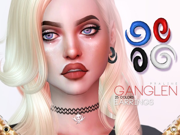 Ganglen Earrings by Pralinesims at TSR image 2314 Sims 4 Updates