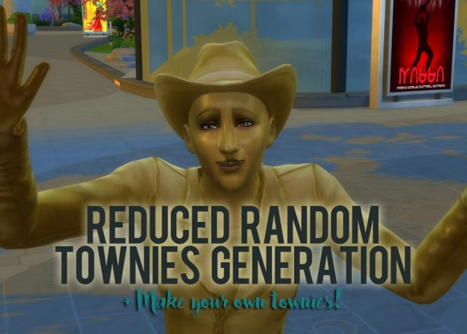 Sims 4 Reduced Random Townies Generation V1.30 by AKLSimmer at Mod The Sims