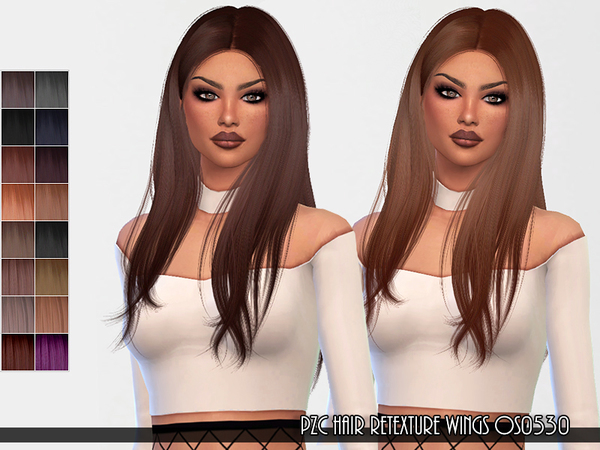Sims 4 Hair Retexture WINGS OS0530 by Pinkzombiecupcakes at TSR