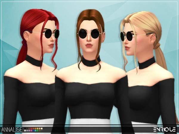 Sims 4 Enriques4 Annalise Hair by Jruvv at TSR