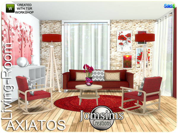 Axiatos living room by jomsims at TSR image 2327 Sims 4 Updates