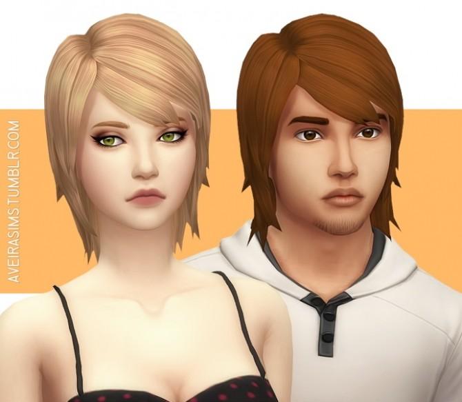 Sims 4 Parenthood Medium Straight Hair Retexture at Aveira Sims 4